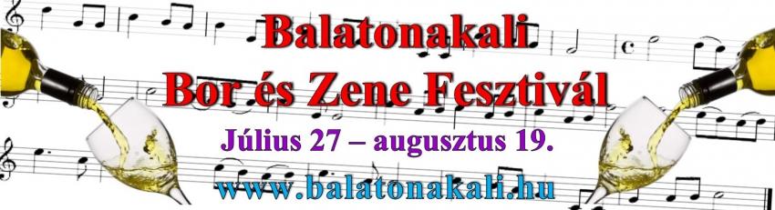 Balatonakali Bor és Zene Fesztivál