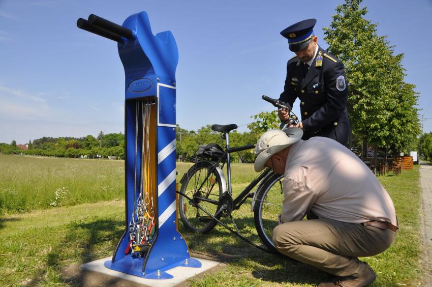 Biciklijavító pont