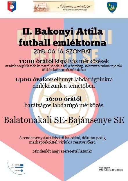 II. Bakonyi Attila Futball Emléktorna