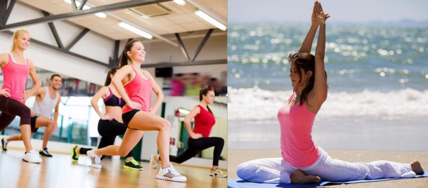 Fitness és jóga foglalkozások a Művelődési házban