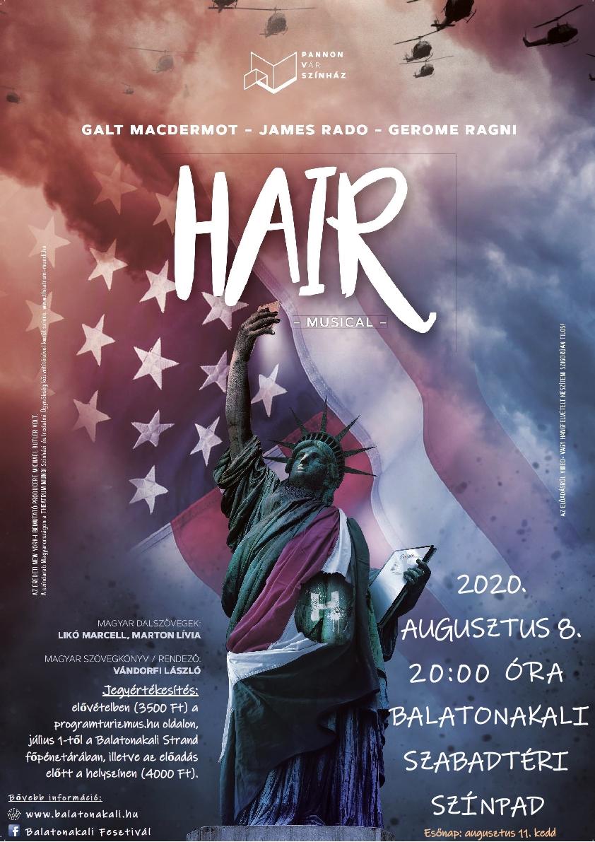 Hair c. musical a Pannon Várszínház előadásában