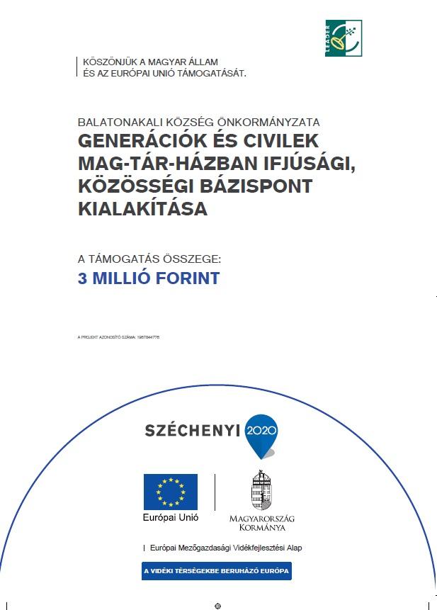 Jelenleg futó Európai Uniós támogatással megvalósuló projektjeink