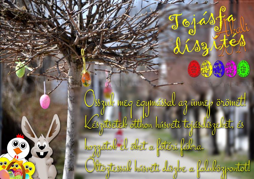 Húsvéti tojásfa díszítés